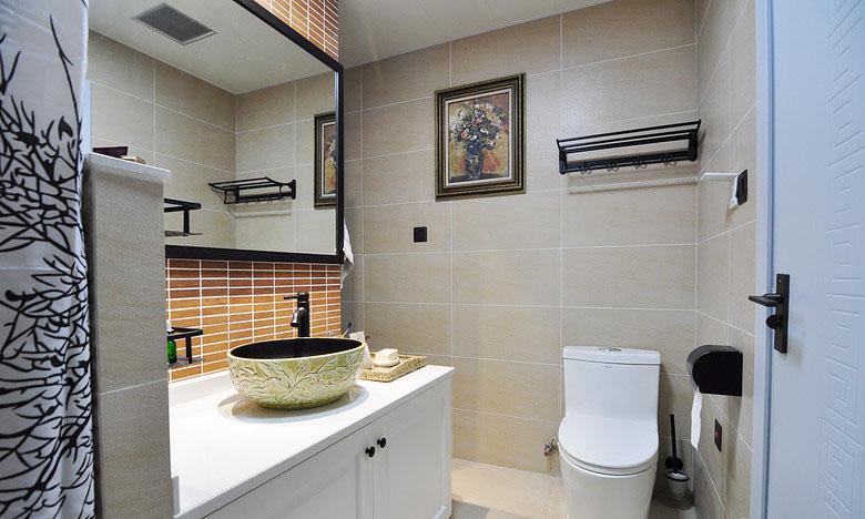 卫生间图片来自家装大管家在素净又通透 89平简约时尚小三房的分享