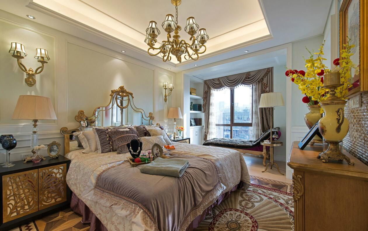 简约 欧式 田园 三居 别墅 白领 二居 混搭 旧房改造 卧室图片来自紫禁尚品国际装饰高晓媛在简单温馨的欧式风格的分享