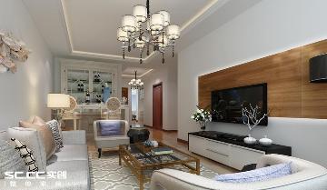家园新城120平现代简约两居室