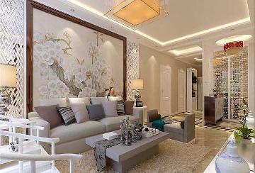 120平米三室两厅新中式风格装修