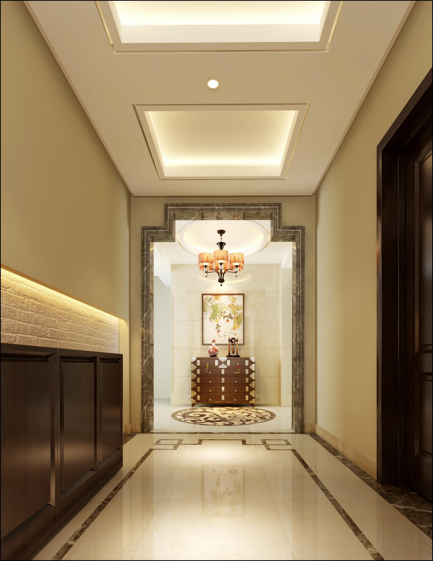 玄关图片来自北京居然元洲装饰小尼在盘龙谷新中式风格210平别墅的分享