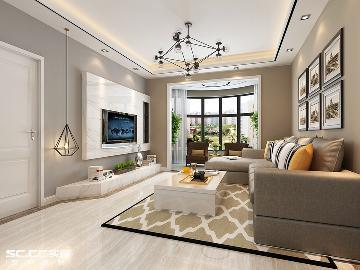 荣耀天地93平两居室装修设计方案