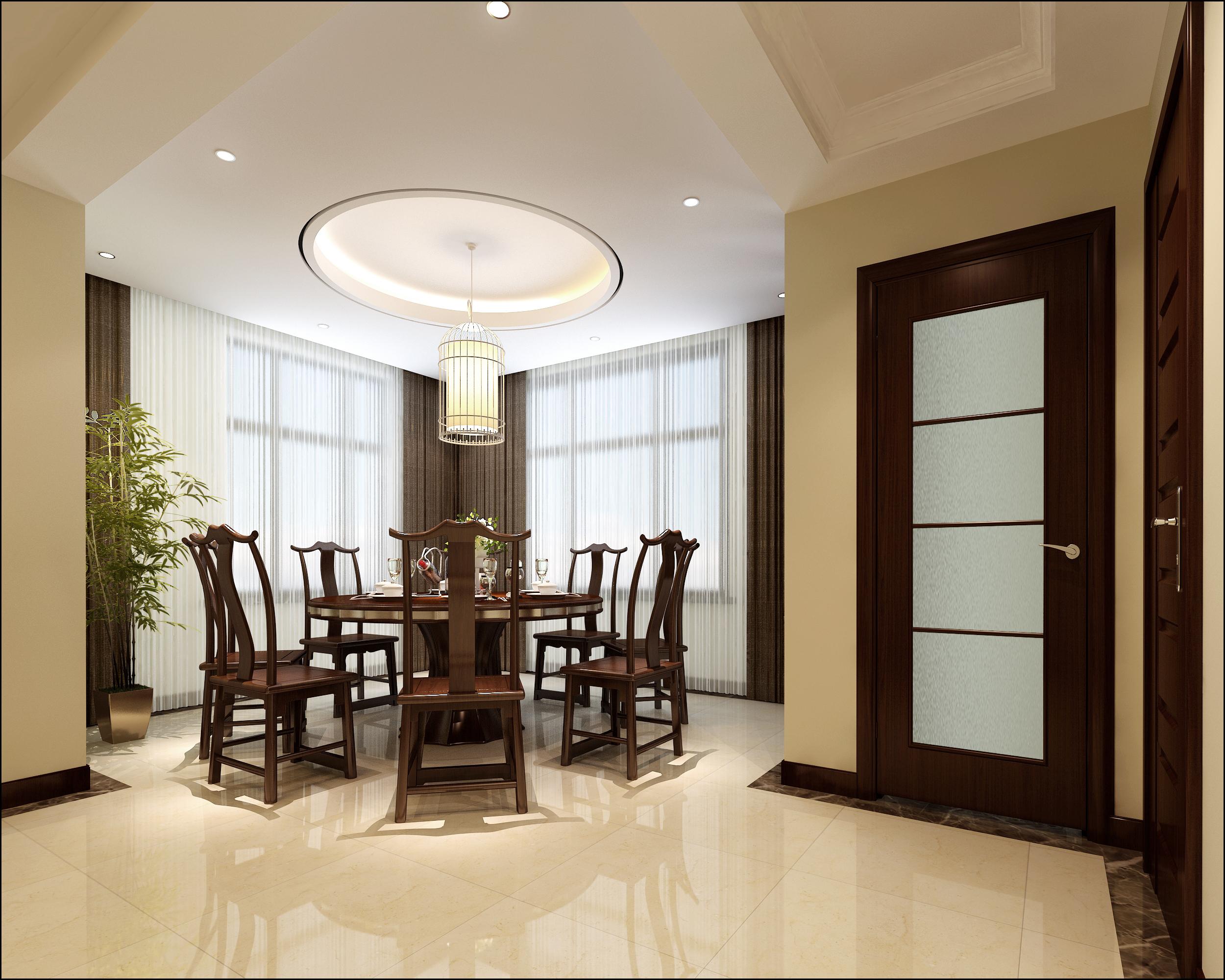 餐厅图片来自北京居然元洲装饰小尼在盘龙谷新中式风格210平别墅的分享