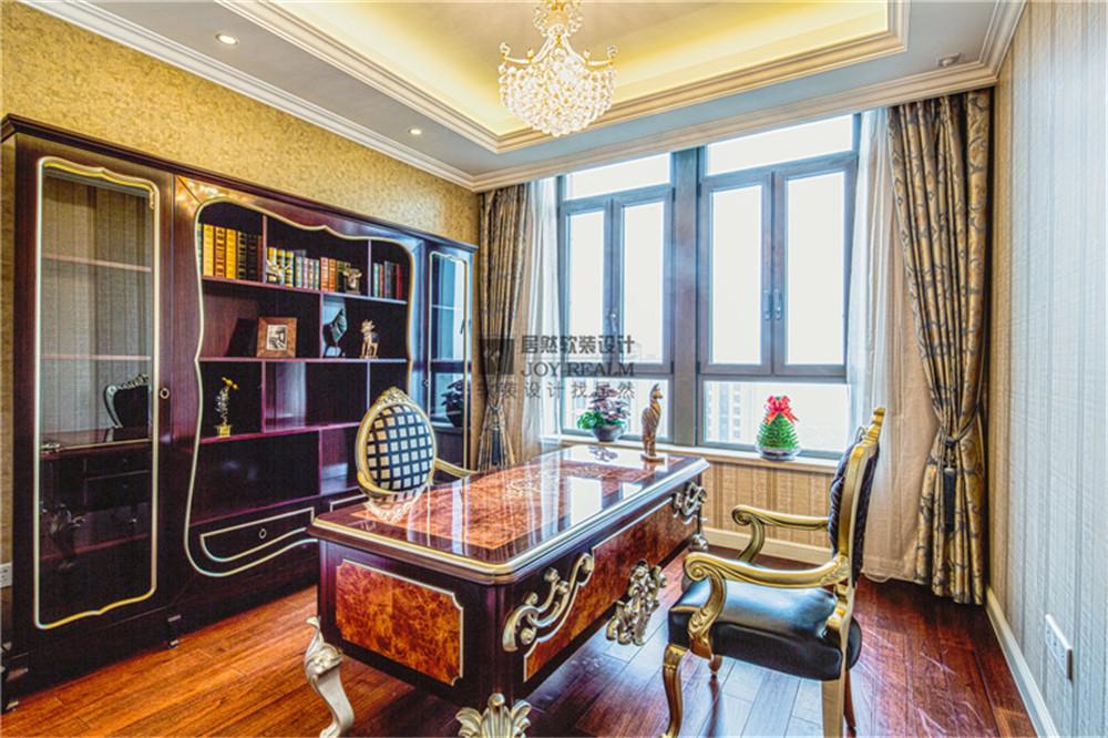 万源城御璄 居然软装 软装设计 实景 混搭 公寓 申远 书房图片来自fy184603446在万源城御璄软装   复古的优雅的分享