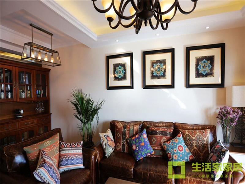 二居 80后 小资 混搭 美式乡村 高层 白领 生活家家居 客厅图片来自天津生活家健康整体家装在诺德中心122的分享