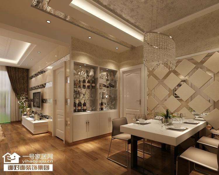现代简约 三居 白领 收纳 80后 小资 餐厅图片来自武汉一号家居在福星城94平现代简约装修案例的分享