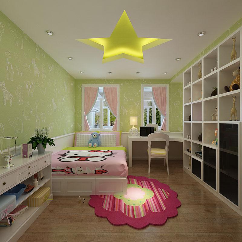 毛坯房装修 100平装修 90装修报价 华城绿洲 儿童房图片来自小户型装修案例在华城绿洲的分享