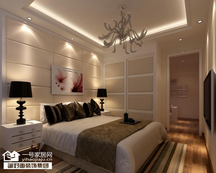 现代简约 三居 白领 收纳 80后 小资 卧室图片来自武汉一号家居在福星城94平现代简约装修案例的分享