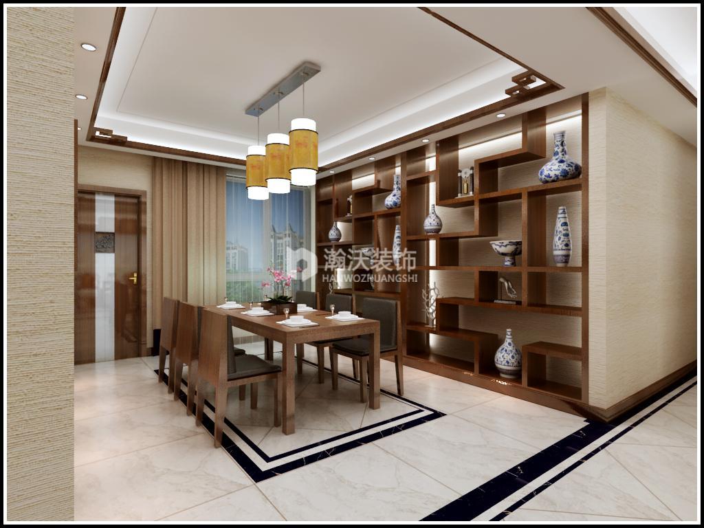 中式 星河盛世 整体家装 餐厅图片来自河北瀚沃装饰在星河盛世237㎡中式风格案例的分享