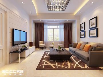 海富绣园82平现代风格两居室