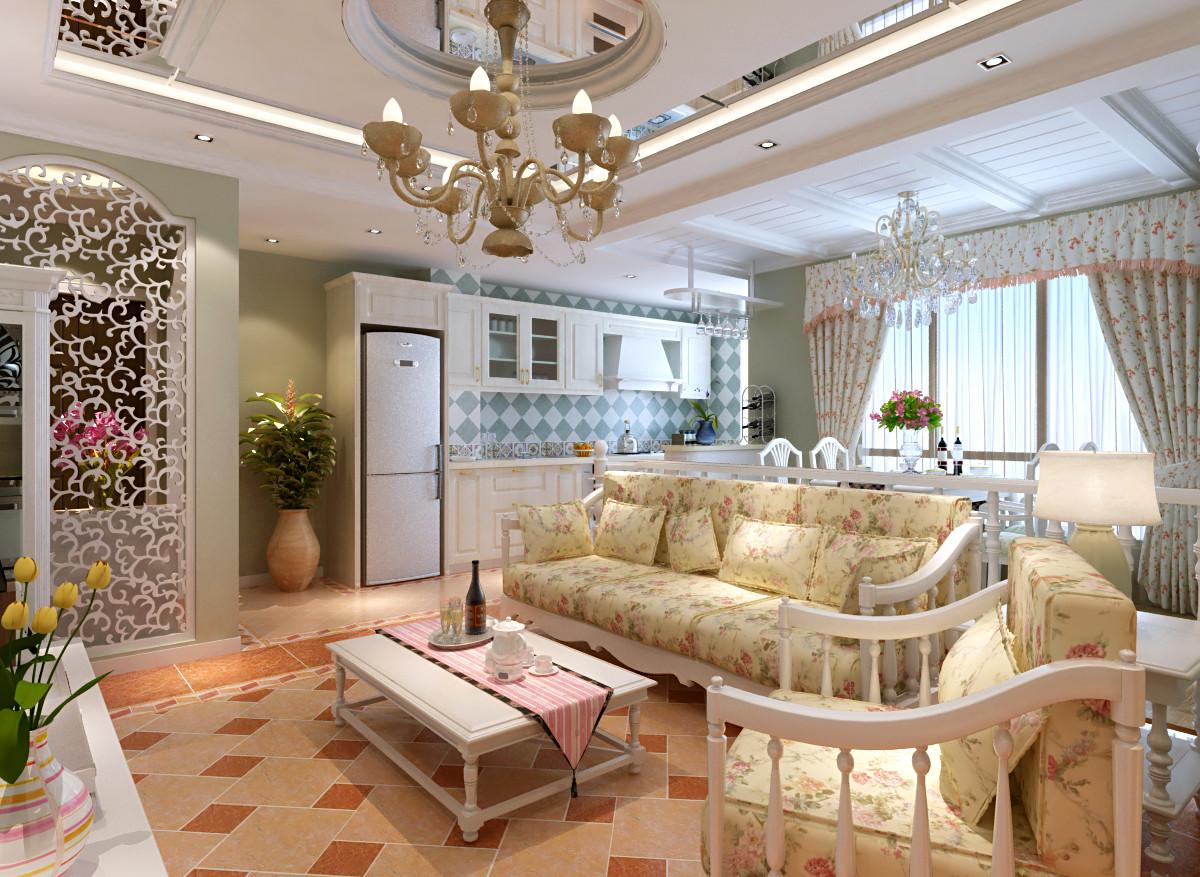 田园 二居 远洋沁山水 装修设计 客厅图片来自北京居然元洲装饰小尼在欧式田园 完美生活的分享