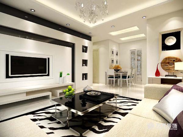 在客餐厅区域选择了白色的瓷砖,既容易清洗,又比较耐磨的同时,又显得整体空间比较宽敞。也符合现代简约的整体风格。