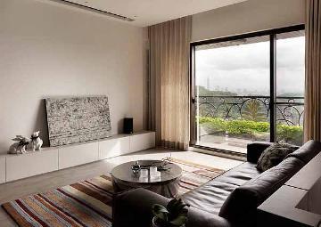92平米北欧风格二居室装修样板间