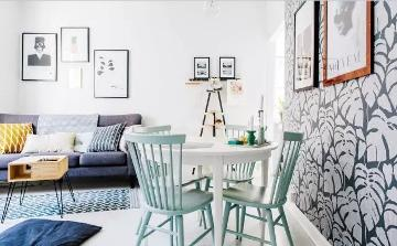 小户型60㎡清新简约北欧风公寓