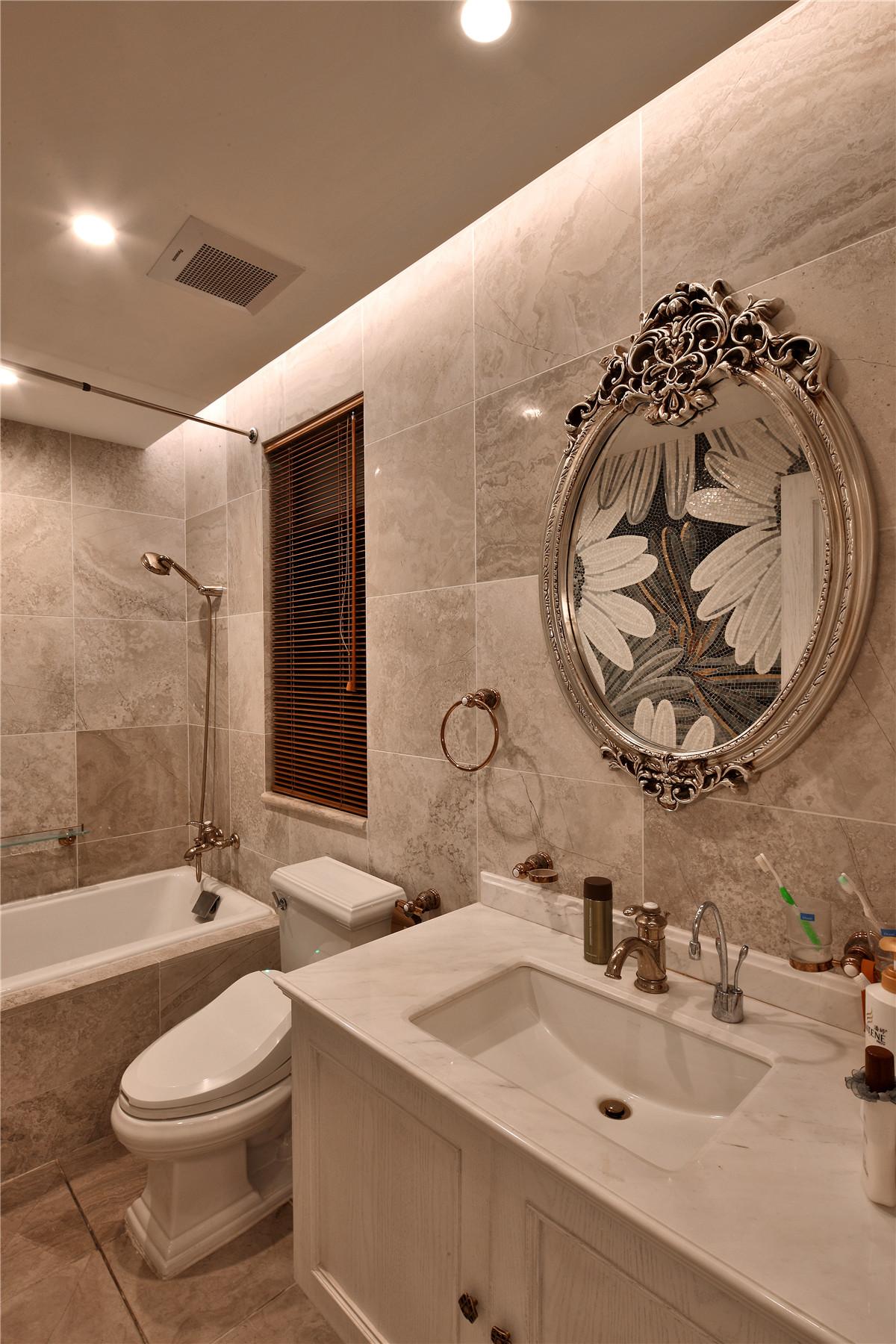 欧式 别墅 卫生间图片来自名雕在水榭山欧式风格700平别墅装修的分享