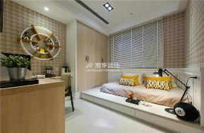 港式 现代 四居 收纳 色彩 榻榻米 卧室图片来自澳华装饰有限公司在复地东湖国际--轻奢港式的分享