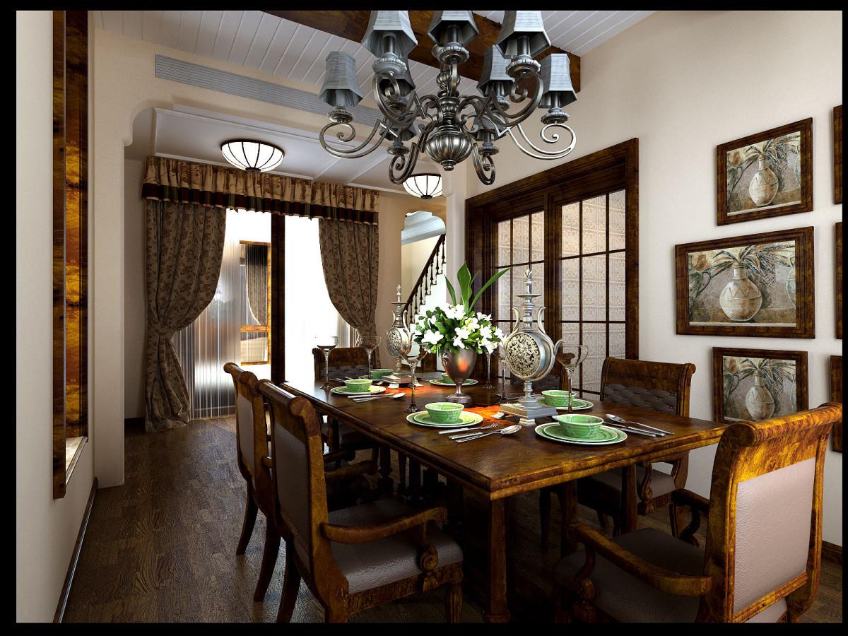 复式 美式 别墅装修 餐厅图片来自北京居然元洲装饰小尼在245美式风格,享受自在惬意生活的分享