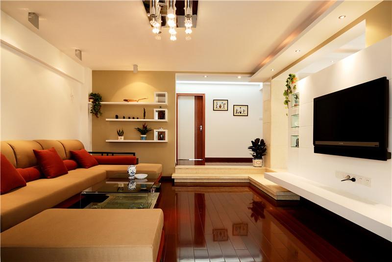 客厅图片来自四川幸福魔方装饰在中德英伦联邦-田园风格-四居室的分享