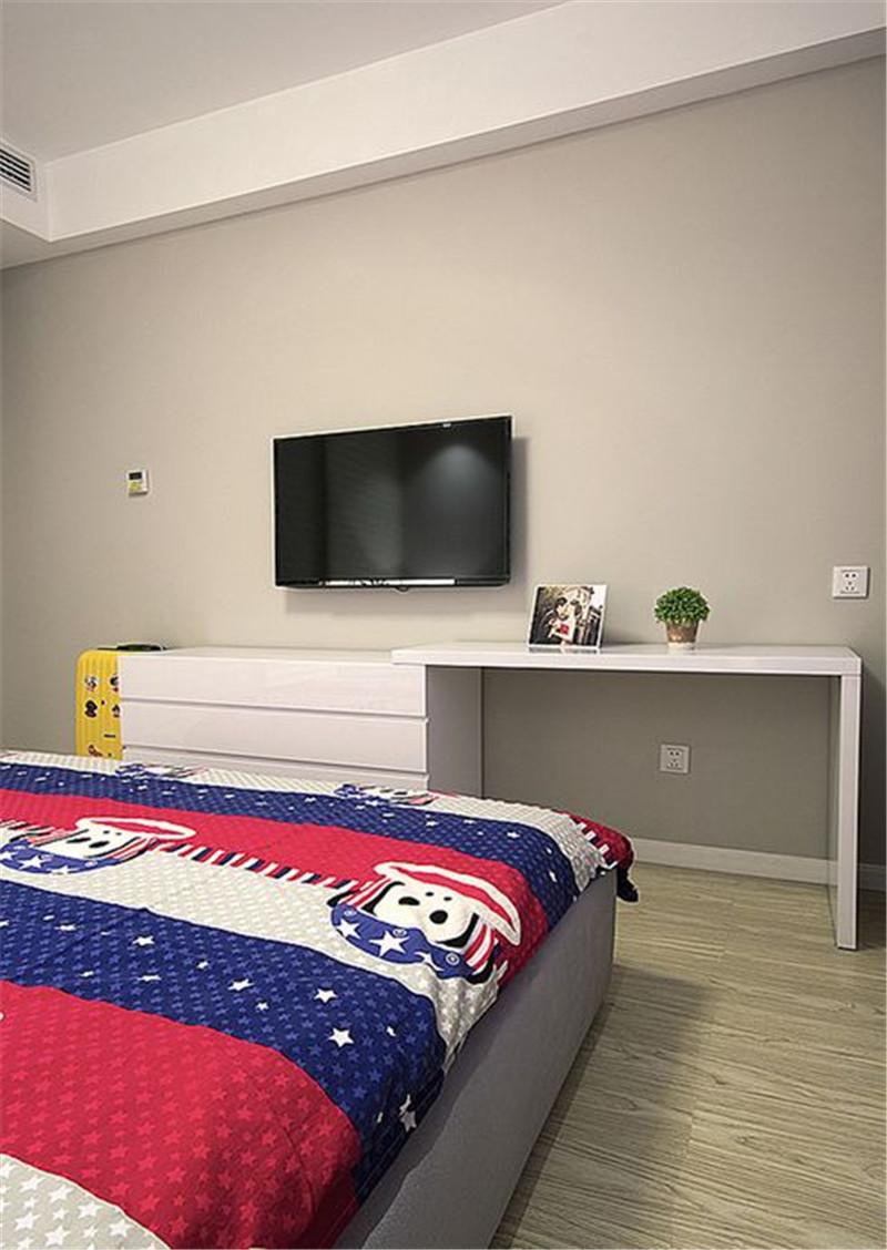 简约 卧室图片来自四川幸福魔方装饰在融信翡翠湾 74㎡ 套二的分享