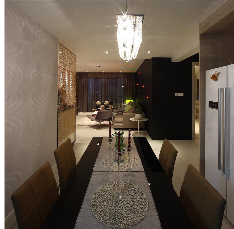 新现代 餐厅图片来自四川幸福魔方装饰在正成东区1号-现代风格-四居室的分享