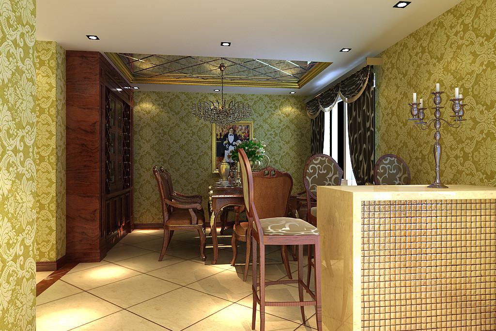餐厅图片来自北京居然元洲装饰小尼在北辰香麓210平米欧式风格的分享