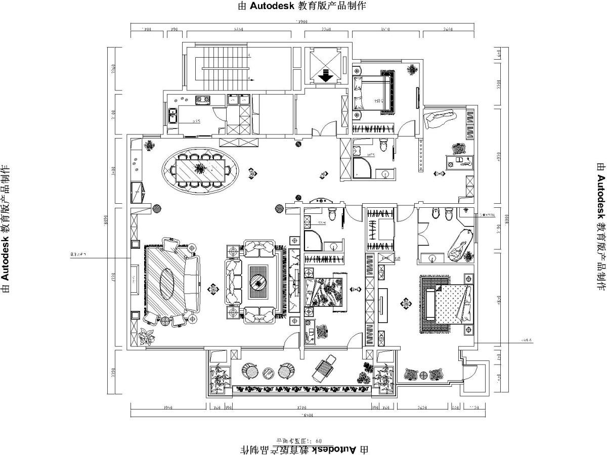 欧式 四局 西山华府 装修设计 户型图图片来自北京居然元洲装饰小尼在西山华府欧式风格 ,贵气居室的分享