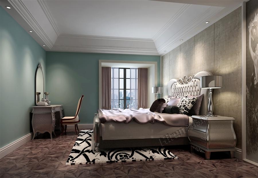 欧式 三居 白领 收纳 80后 小资 卧室图片来自鸿扬家装武汉分公司在御才名仕之欧陆风情的分享