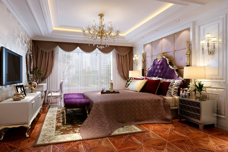 卧室图片来自业之峰装饰旗舰店在霓之裳的分享