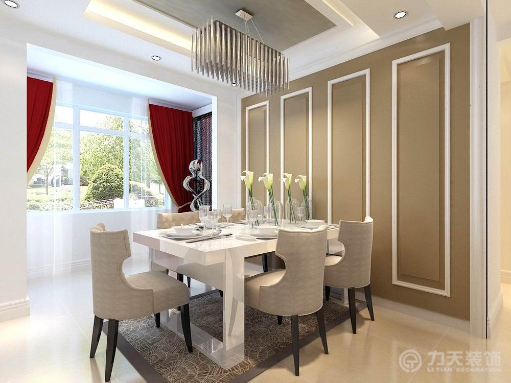三居 欧式 保利玫瑰湾 白领 80后 餐厅图片来自阳光放扉er在力天装饰-保利玫瑰湾143㎡的分享