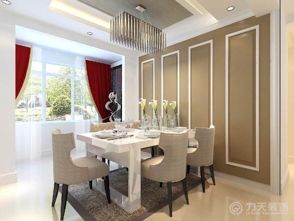 在选材方面,除了欧式惯用的白色材质,还用了玻璃、镜子等现代材料,大大提升了原质感的对比效果,在表现尊贵的同时还增添了几分现代感。