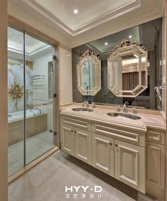 欧式 三居 简约 别墅 软装设计 卫生间图片来自郑鸿设计师在琳琅雅域--深圳黄埔雅苑室内设计的分享
