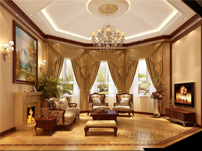 托斯卡纳 别墅 彼岸香醍 别墅装修 高度国际 客厅图片来自沙漠雪雨在350平米乡村浪漫情怀大宅的分享