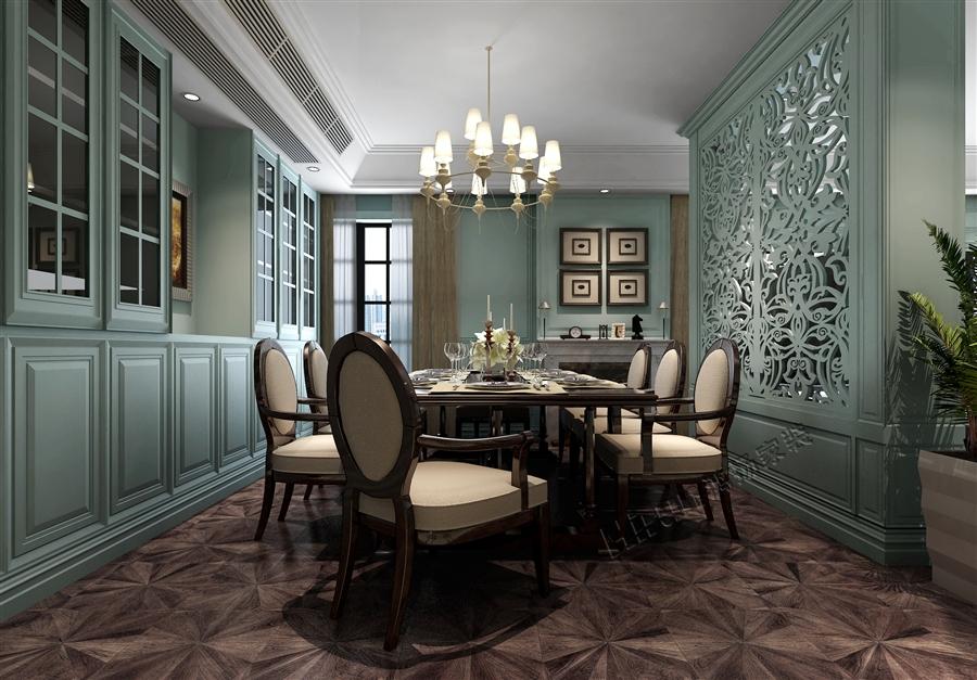 欧式 三居 白领 收纳 80后 小资 餐厅图片来自鸿扬家装武汉分公司在御才名仕之欧陆风情的分享