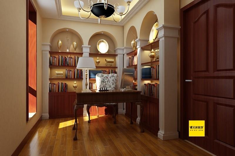 混搭 三居 国奥媒体村 书房图片来自北京居然元洲装饰小尼在新中式地中海混搭三居的分享