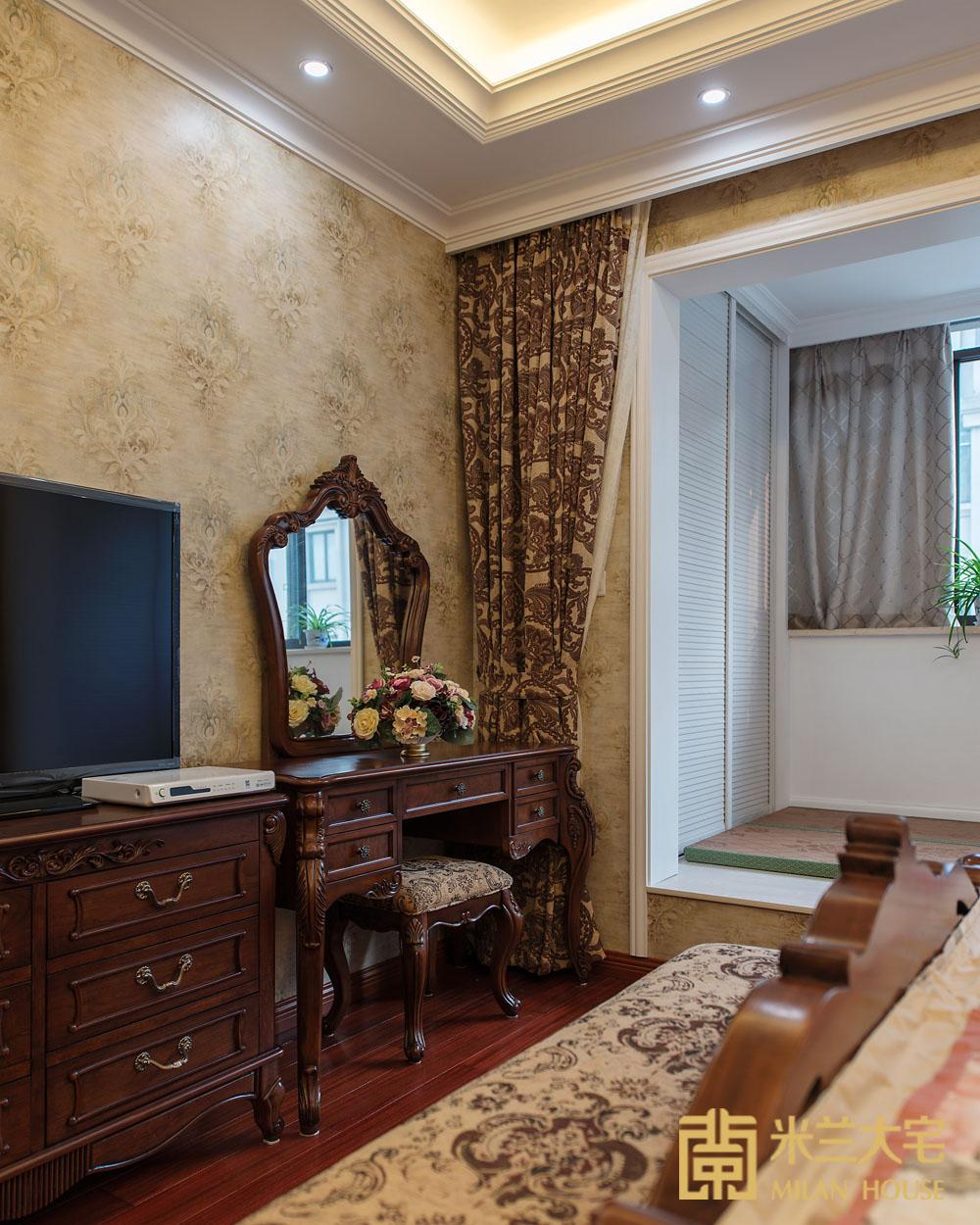 米兰大宅 复式 现代 美式 卧室图片来自米兰大宅设计会所在复式新中式的分享