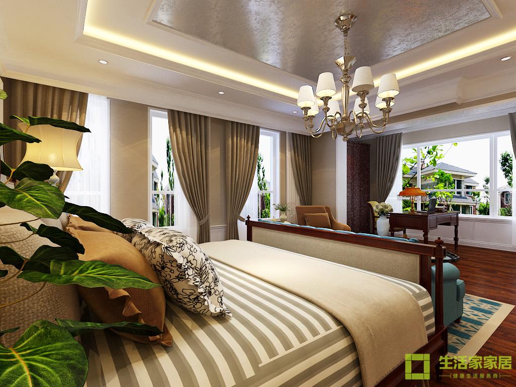 别墅 小资 五居 生活家家居 美式 美式乡村 美式田园 大宅 卧室图片来自天津生活家健康整体家装在固安别墅430的分享
