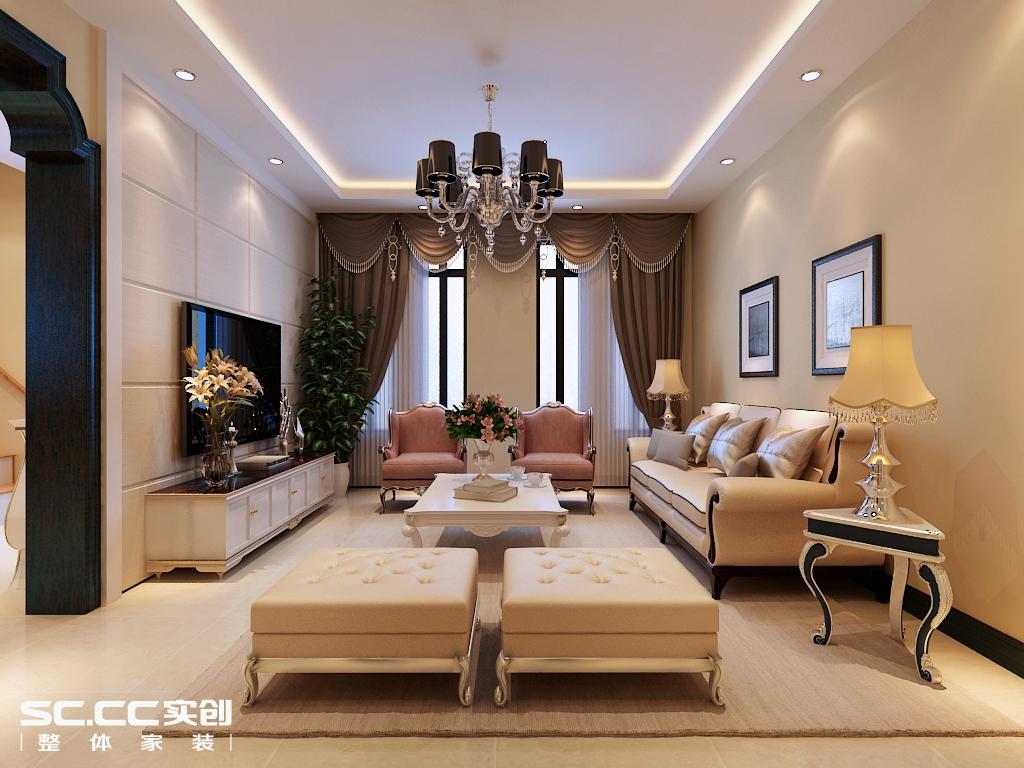 二居 欧式 客厅图片来自哈尔滨实创装饰阿娇在星光耀120平LOFT户型简欧风格的分享