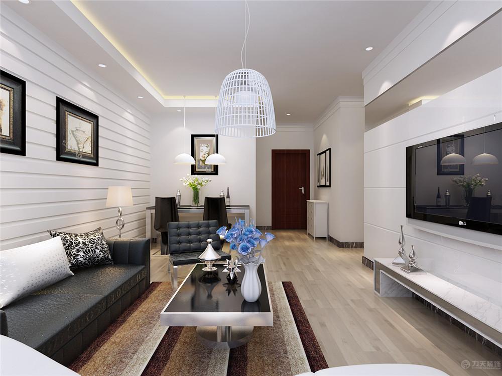 简约 现代 二居 收纳 80后 沙发 茶几 客厅图片来自阳光力天装饰在现代简约   首创城  91㎡的分享