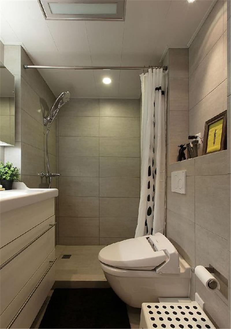 简约 卫生间图片来自四川幸福魔方装饰在融信翡翠湾 74㎡ 套二的分享