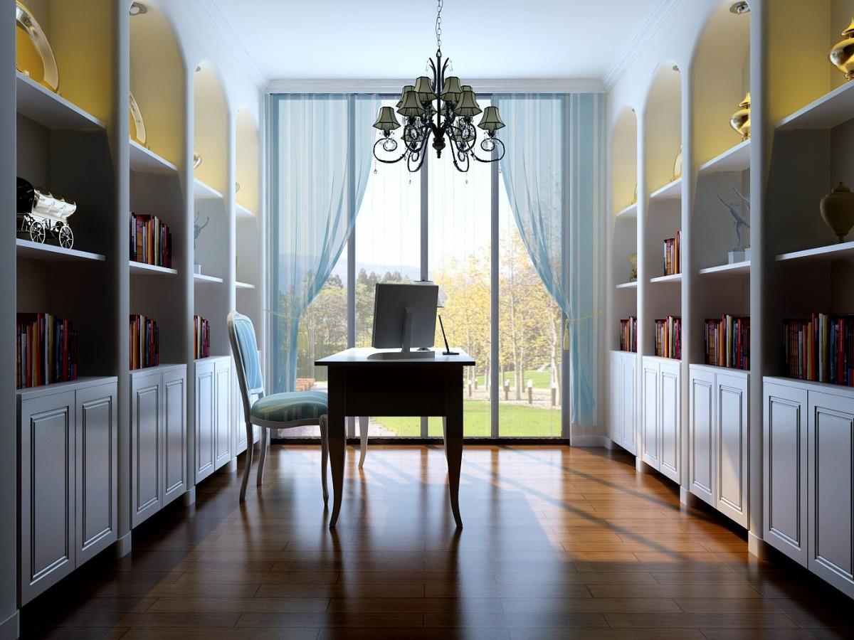 别墅 书房图片来自北京居然元洲装饰小尼在350平地中海,不一样的视觉体验的分享