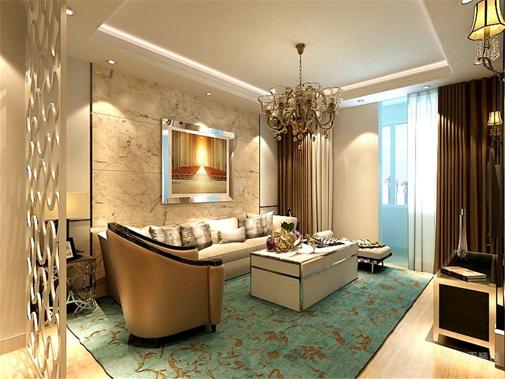 欧式 简约 二居 白领 收纳 80后 客厅图片来自阳光力天装饰在简欧风格   亿城堂庭  57㎡的分享