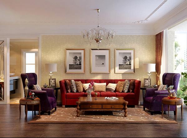 欧式 四居 小资 客厅图片来自居然元洲装饰小杨在160平蓝湾小镇欧式风格的分享