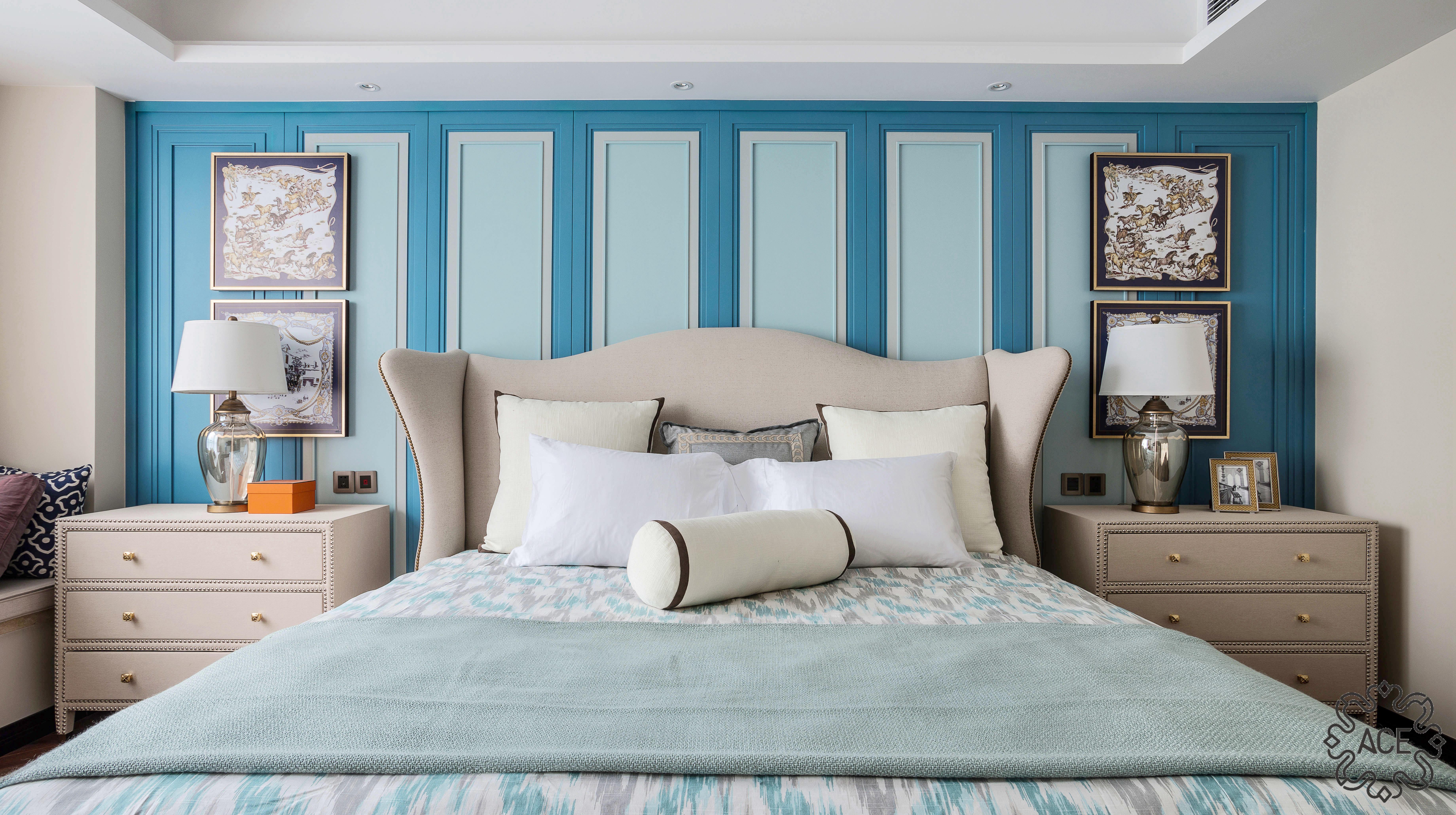 精装房改造 优雅住宅 气质 沉稳 卧室图片来自谢辉室内定制设计服务机构在家之新颜的分享