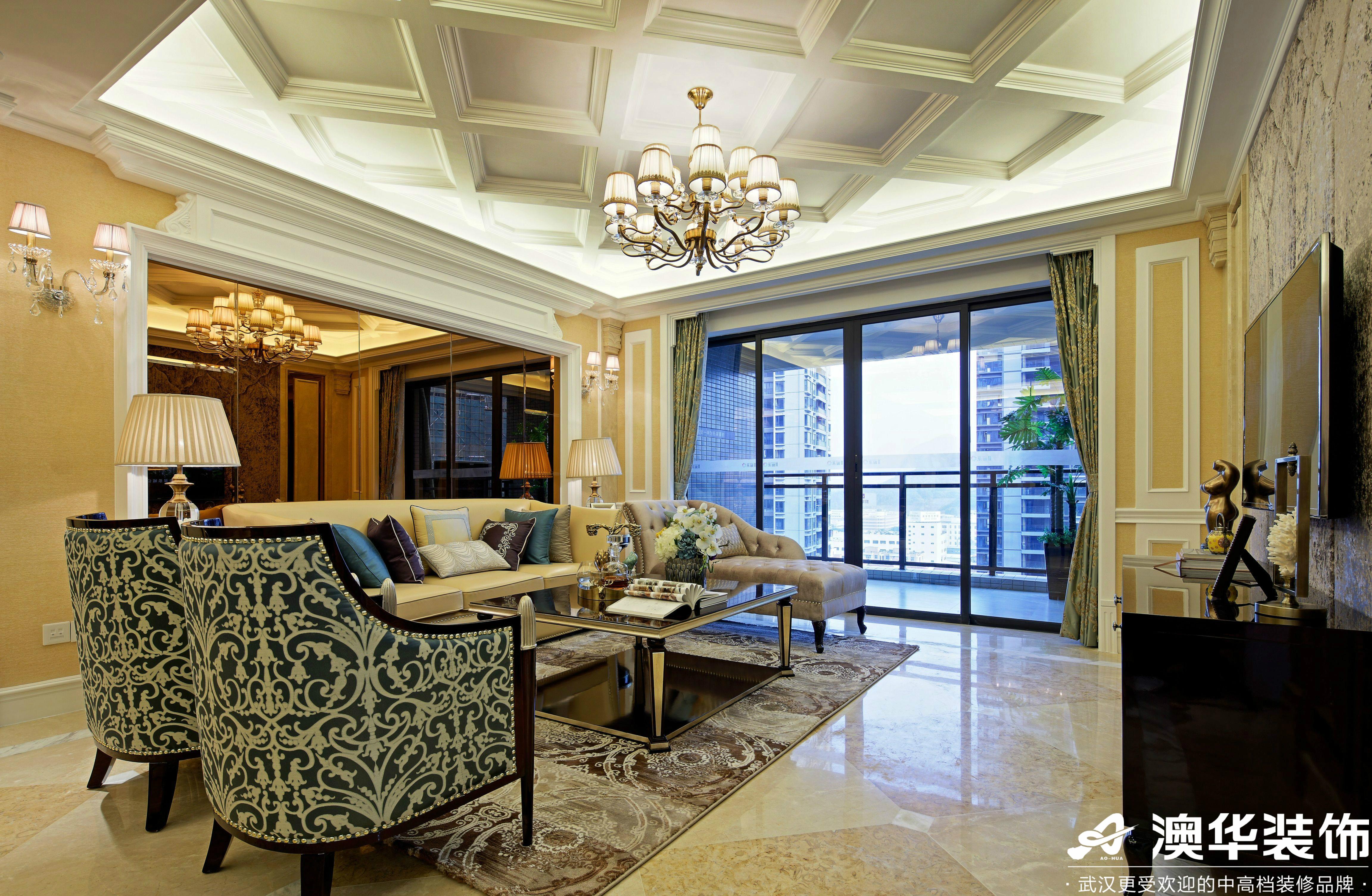 客厅图片来自澳华装饰有限公司在中建福地星城新古典风格的分享