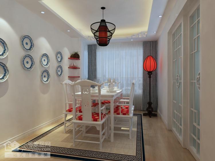 新东方主义 芷岸龙庭 三房两厅 餐厅图片来自武汉一号家居在芷岸龙庭效果图的分享