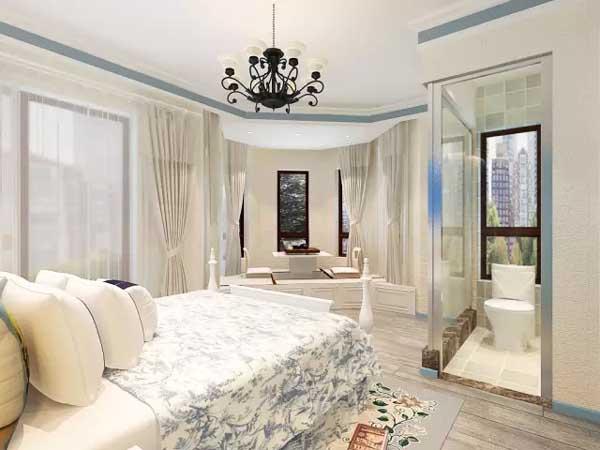 三居 小资 卧室图片来自上海潮心装潢设计有限公司在锦桂苑115平地中海风格房子装修的分享