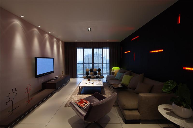 新现代 客厅图片来自四川幸福魔方装饰在正成东区1号-现代风格-四居室的分享