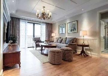 华亭公寓135平美式乡村风格样间