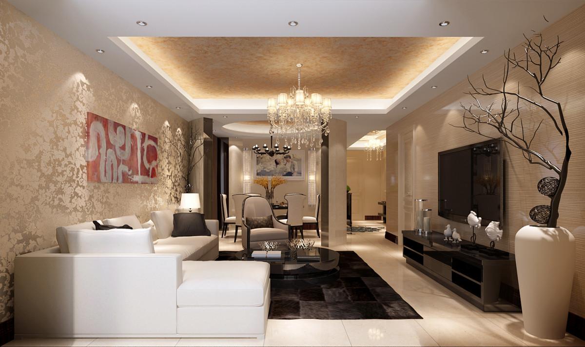 客厅图片来自北京居然元洲装饰小尼在东湖湾175平米品质简约式住宅的分享