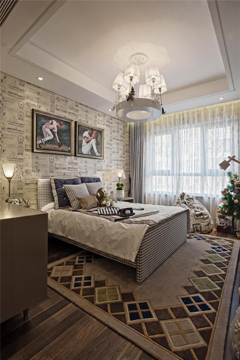 卧室图片来自四川幸福魔方装饰在棠湖泊林城-四居室的分享